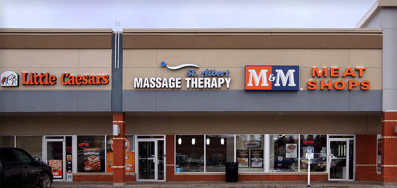 The St. Albert Massage Therapy Clinic located at the Gateway Village Shopping Centre
