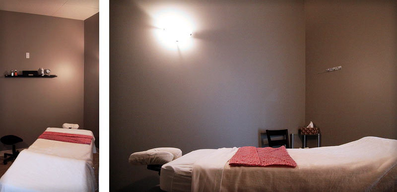Treatment Room at the St. Albert Massage Therapy Clinic