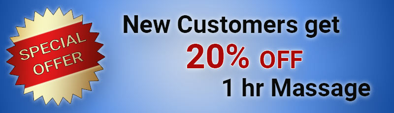 Special Offer: New Customers get 20% OFF 1 hr Massage